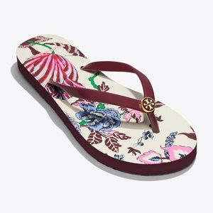 704c39127c9889 NIB Tory Burch New Claret  Happy Times Flip Flop